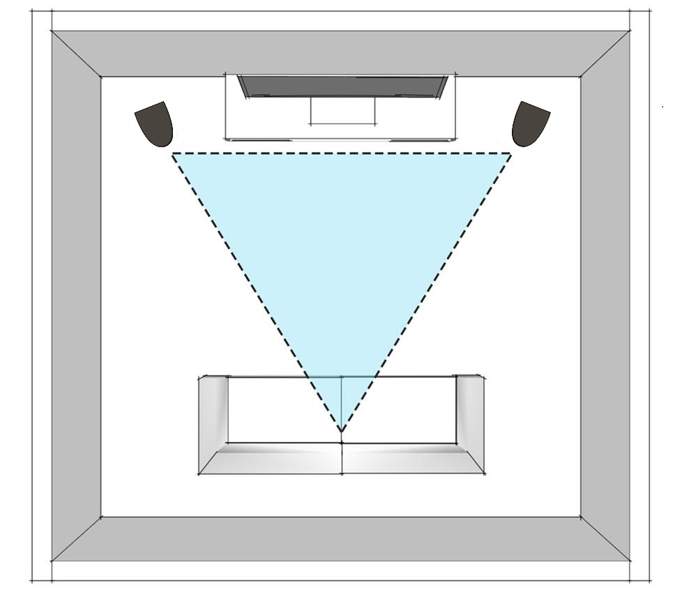 floor-standing loudspeakers position