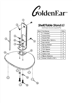 Satellite Speaker Mounts Shelf/TableStand 60 Manual