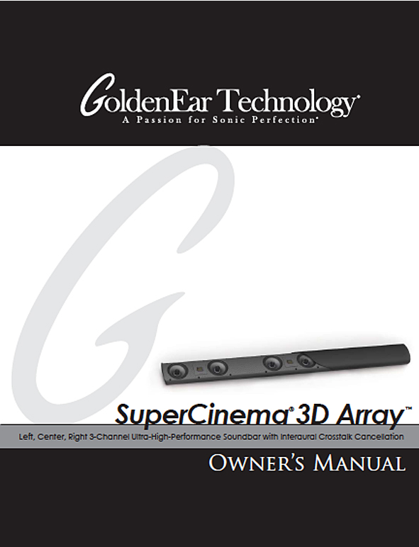 SuperCinema 3D Array Manual