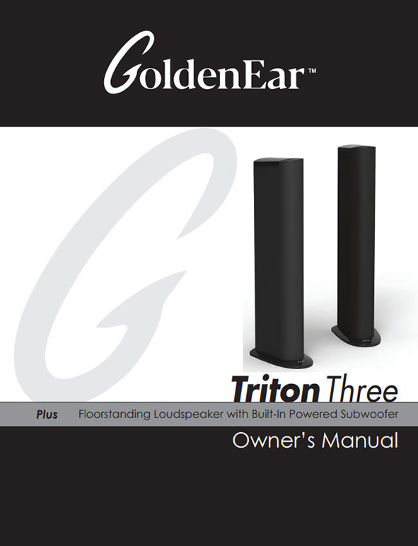Goldenear technology a passion for sonic perfection brochures triton three manual publicscrutiny Image collections