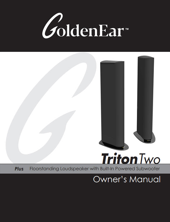 Goldenear technology a passion for sonic perfection brochures triton reference manual triton one manual triton two manual publicscrutiny Image collections