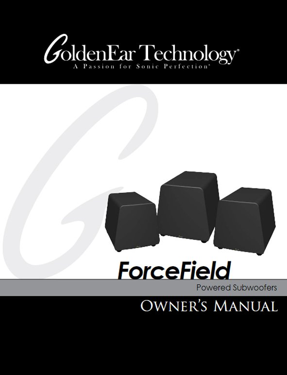 ForceField Subwoofers Manual