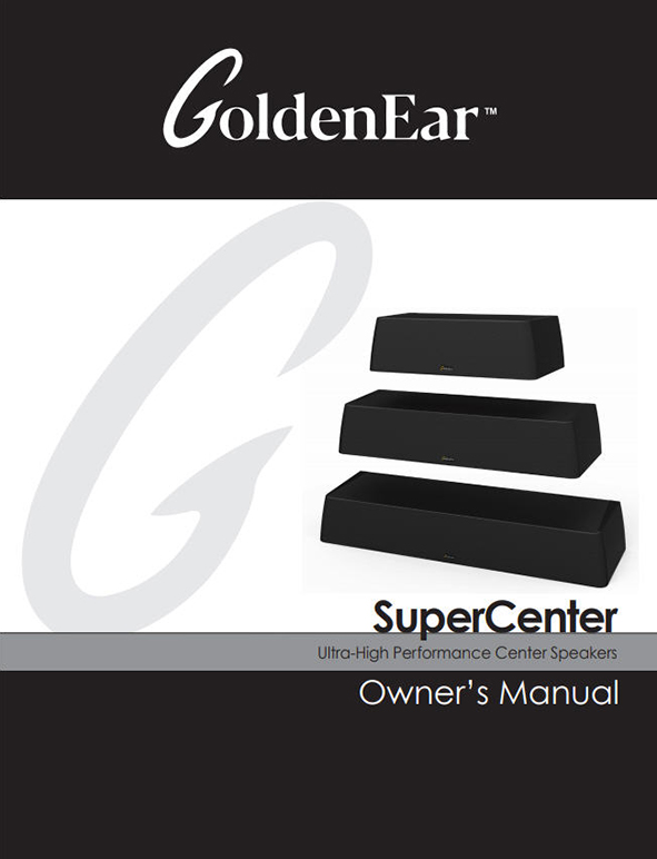 SuperCenter Series Manual