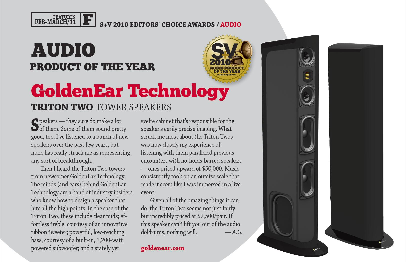 S&V 2010 Product of the Year